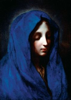 The Blue Madonna Attributed to Carlo Dolci (1616-1687)