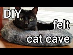 Spiffy Pet Products: Felted Cat Caves: Whimsical Sculpted Cat Bed Ideas