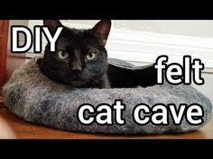 DIY Felt Cat Cave - YouTube