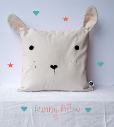 Bunny Pillow Cover / Nursery / Baby / Nursery Decor door yoursolive