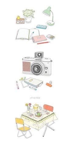 韩国插画作品。