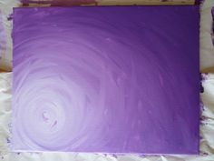 DIY: How to make a beautiful blend painting (u can use it as a background). #diy_canvas_tree