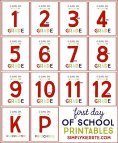 First Day of School Free Printables | simplykierste.com