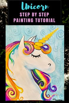 How To Paint A Unicorn Description:  In this tutorial you will learn how to draw and paint a unicorn. Easy enough for beginners and kids!