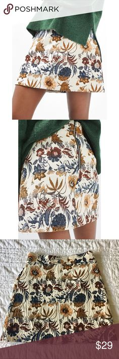 Selling this Topshop Pressed Flower A-Line Skirt on Poshmark! My username is: coleeescloset. #shopmycloset #poshmark #fashion #shopping #style #forsale #Topshop #Dresses & Skirts