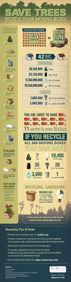 Save Trees: Recycle Your Moving Boxes [Infographic]