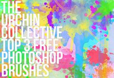 The Urchin Collective: My Top 3 Free Photoshop Brushes + Free Watercolor Wallpaper
