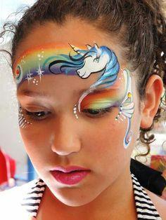 face paint rainbow cake unicorn - Google Search