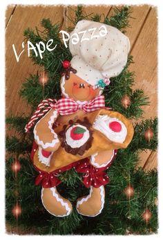 Patrones de jengibre de Navidad 2014: Papel pastelería patrón de jengibre con cannoli