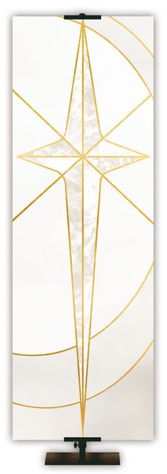 The Liturgical Star Banner is a Favorite at Advent and Christmas time. This banner is made of quality fabric and state-of-the-art graphics. Available in five colors and pole hems or grommets for easy hanging. Star Banner, Diy Banner, Banner Ideas, Banner Design, Pinterest Foto, Church Banners Designs, Prayer Garden, The Tabernacle, Banner Stands