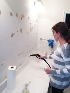 Cleaning Bathroom Post Mirror