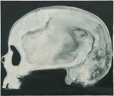 Marlene Dumas, Skull (of a Woman) oil on canvas, 43 x 51 in Marlene Dumas, Barnett Newman, Weird Creatures, Jackson Pollock, Skull And Bones, Magazine Art, Contemporary Paintings, Art History, Oil On Canvas