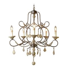 Palm 6 Lights Crystal Chandelier