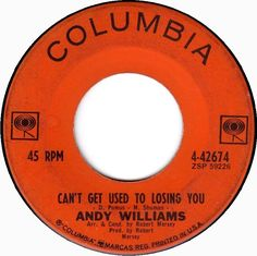 45cat - Andy Williams - Can't Get Used To Losing You / Days Of Wine And Roses - Columbia - USA - 4-42674