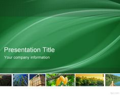Free Forestry PowerPoint Template
