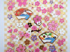 Japanese paper sakura cherry blossom and Mount Fuji от 2FooDogs