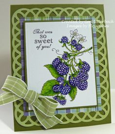 Berry Sweet Card Flourishes Timeless Tuesday Challenge #165 by redwasher1 - Cards and Paper Crafts at Splitcoaststampers