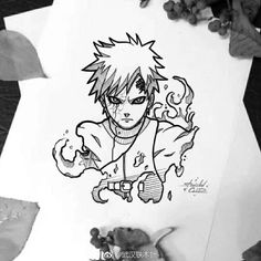 Discover recipes, home ideas, style inspiration and other ideas to try. Naruto Drawings, Art Naruto, Naruto Sketch, Naruto Gaara, Anime Drawings Sketches, Naruto Shippuden Anime, Cool Art Drawings, Anime Sketch, Anime Naruto