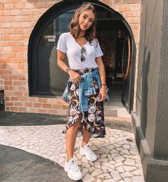 Modest Outfits, Skirt Outfits, Trendy Outfits, Casual Dresses, Cool Outfits, Summer Outfits, Girl Fashion, Fashion Outfits, Christian Clothing