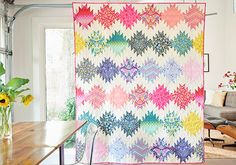 Free pdf Pattern - Simply Eden Quilt by Tula Pink Quilting Tutorials, Quilting Projects, Quilting Designs, Quilting Ideas, Modern Quilting, Sewing Projects, Diy Projects, Jellyroll Quilts, Scrappy Quilts