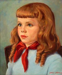 Portrait Of A Girl-James Chapin (1887 – 1975, American)