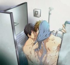 Free! ~~ Showering with a friend after a swim