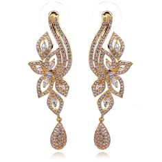 Find More Drop Earrings Information about Jewelry Fashion Elegant Women Luxury 18k Gold Plated White Color AAA Cubic Zirconia Long Drop Wedding Bridal Water Drop Earrings,High Quality Drop Earrings from ASM Fashion Jewelry on Aliexpress.com