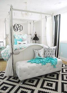 Tiffany inspired bedroom for teen girls.