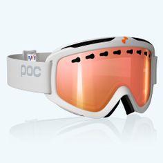 POC Iris 3P Ski Snowboarding Goggles Polarized NXT Red Mirror Lens White Frame