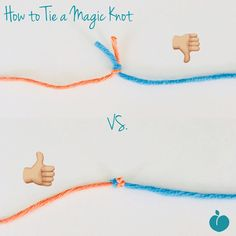 "How to Tie a Magic Knot Alright, I need to file this one in my brain under ""Stuff I wished I knew a LONG time ago!!"". If you have weaving in ends (which is everyone, be honest!), then this is going to blow your mind. It is a such a simple knot that every #knitter and #crocheter should have this in their mental toolkit. The trick is to use this knot as you're transitioning between working and new yarns and have the ends blend right in. It's super simple, check it out!"