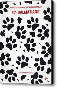 No229 My 101 Dalmatians Minimal Movie Poster Canvas Print / Canvas Art By Chungkong Art