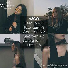 Vsco Asian Vietnam skin theme for your photo edit