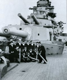 A and B turrets, HMS Hood 1940 | by umbry101
