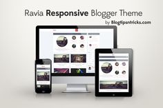 Ravia- Responsive Blogger Template. | ANSMACHINE , Encyclopedia, Technology, Blogger Guide