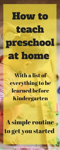 Are you thinking about starting preschool at home but not sure what to do or if you can handle it? See our easy preschool routine that can be done in about 30 minutes per day! learn how to teach preschool at home! - Kids education and learning acts Preschool Routine, Preschool Prep, Preschool Learning Activities, Preschool At Home, Preschool Lessons, Toddler Learning, Toddler Preschool, Teach Preschool, Teaching Kids
