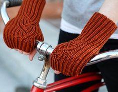 Brioche Cable Fingerless Mitts by Mercedes Tarasovich-Clark
