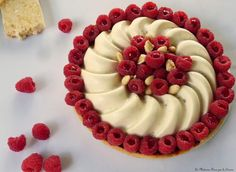 Tarte framboises / mousse de nougat #tarte #framboises #desserts