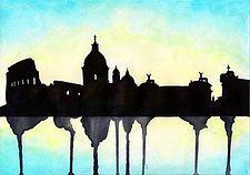 A Roma, di notte, l'aria è color arancio. La notte stessa è arancio. Il cielo è d'un blu scurissimo, offuscato dalle mille luci e dai palazzi della città e i lampioni stanchi, tristi e ingialliti dallo smog... #3000caratteri. #Unvecchiosconosciuto #MatteoMingoli