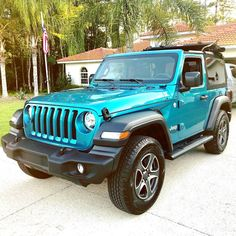 Blue Jeep Wrangler, Jeep Wrangler Unlimited, Jeep Wrangler Accessories, Jeep Accessories, Jeep 4x4, My Dream Car, Dream Cars, 2 Door Jeep, Automobile
