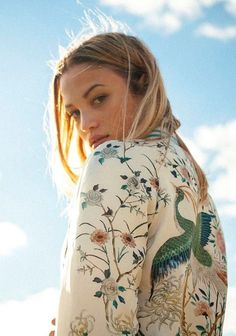 floral print bomber #style #fashion