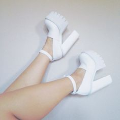 Sarah in the Jeffrey Campbell Scully Platform || Get the platforms: http://www.nastygal.com/product/jeffrey-campbell-scully-platform--white?utm_source=pinterest&utm_medium=smm&utm_term=ngdib&utm_content=omg_shoes&utm_campaign=pinterest_nastygal