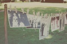 This would be great idea with pictures of everyone in the family over the years. #rusticwedding