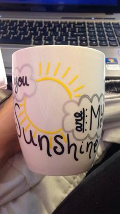 "Custom/Made to Order/Personalized Mug by MissionsForMikayla, $10.00 In simple words ""you are my sunshine"" cup"