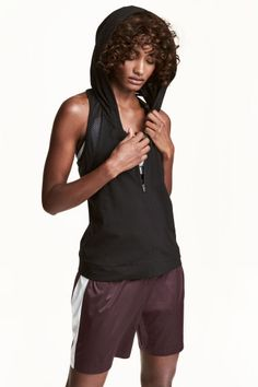 Sports top with a hood Model