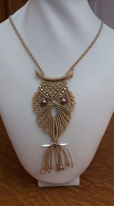 Best 11 Macrame Owl necklace for mom Gift for Her – SkillOfKing. Collar Macrame, Macrame Colar, Macrame Dress, Macrame Owl, Macrame Necklace, Macrame Knots, Macrame Bracelets, Owl Necklace, Macrame Jewelry Tutorial