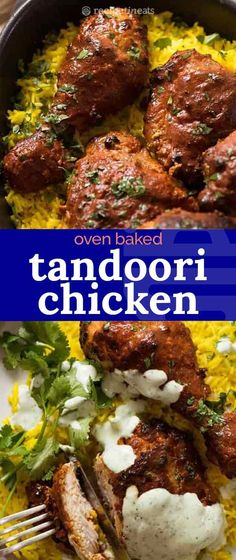 Oven Baked Tandoori Chicken This is an easy baked Tandoori Chicken recipe! Made with accessible ingredients from scratch, chicken is infused with flavour from a yogurt tandoori chicken marinade then baked until golden with little charred bits. Authentic Tandoori Chicken Recipe, Tandoori Chicken Marinade, Pollo Tandoori, Chicken Marinades, Tandori Chicken, Frango Chicken, Recipe Tin, Best Chicken Recipes, Recipe Chicken