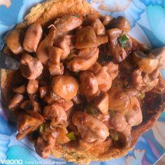 Hähnchengeschnetzeltes auf Vibono-Eierkuchen                              …