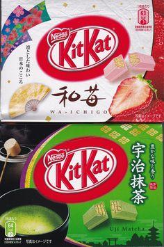 「對了,去上海吧!」Yes,Go Shanghai!: 日本機場必買伴手禮,Kit Kat「和風口味」限定版: 和莓口味 與 宇治抹茶口味, LOTTE64層鬆軟酥脆千層派盒裝巧克力, 森永鹽味牛奶糖