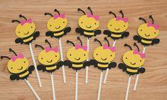 12 Girl Bee Favor Tags
