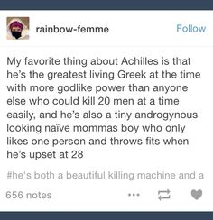 So cute! Our little Achilles(or big killing demi-god, you know what I mean!...)